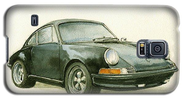 Watercolor Galaxy S5 Case - Porsche 911 Classic Car Art by Juan  Bosco
