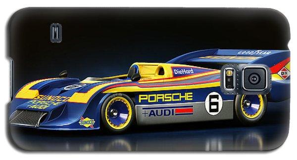 Galaxy S5 Case featuring the digital art Porsche 917/30 by Marc Orphanos