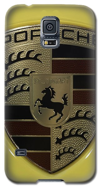 Porsche Emblem On Racing Yellow Galaxy S5 Case