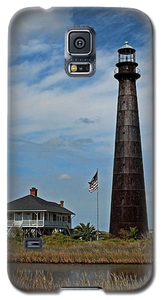Galaxy S5 Case featuring the photograph Port Bolivar Lighthouse by Judy Vincent