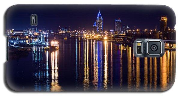 Port City In Blue Galaxy S5 Case