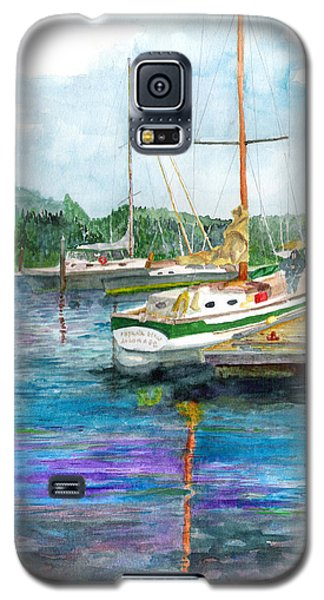 Galaxy S5 Case featuring the painting Port Mcneil Bc by Eric Samuelson