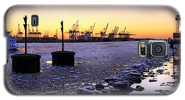 Port Of Hamburg Winter Sunset Galaxy S5 Case