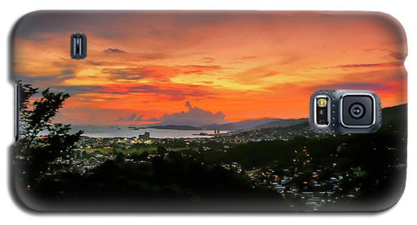 Port Of Spain Sunset Galaxy S5 Case by Nadia Sanowar