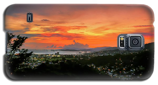 Port Of Spain Sunset Galaxy S5 Case