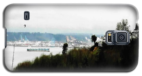 Galaxy S5 Case featuring the photograph Port Of Tacoma At Ruston Wa by Sadie Reneau
