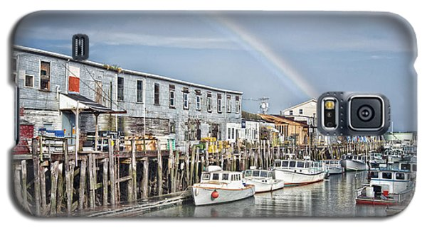 Galaxy S5 Case featuring the photograph Port Rainbow by Richard Bean