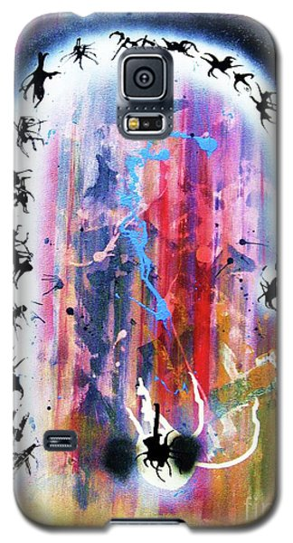 Galaxy S5 Case featuring the painting Portal Of Beginning Again by Roberto Prusso