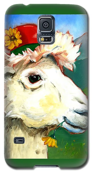 Galaxy S5 Case featuring the painting Portland Alpaca by Susan Thomas