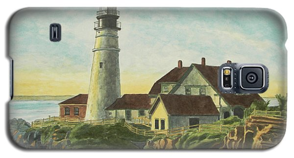 Portland Head Light At Sunrise Galaxy S5 Case