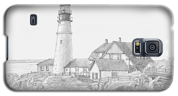 Portland Head Light Drawing Galaxy S5 Case