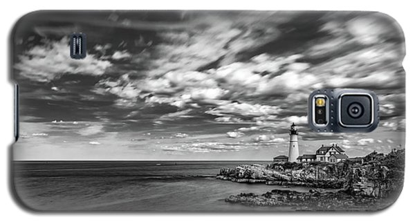 Portland Head Light In Black And White Galaxy S5 Case