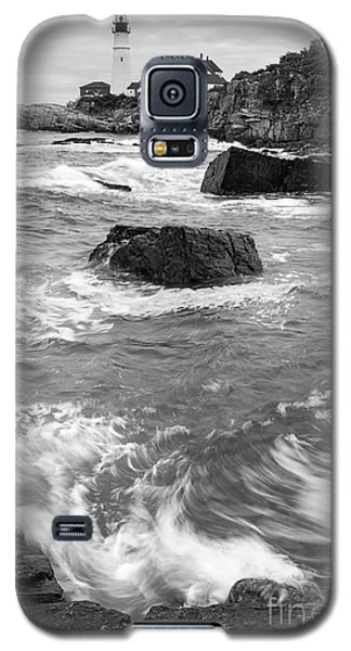 Galaxy S5 Case featuring the photograph Portland Head Light Under Heavy Skies  -88356 by John Bald