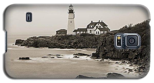 Portland Head Lighthouse Foggy Morning Sepia Galaxy S5 Case