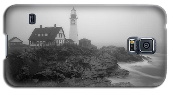 Portland Head Lighthouse In Fog Black And White Galaxy S5 Case