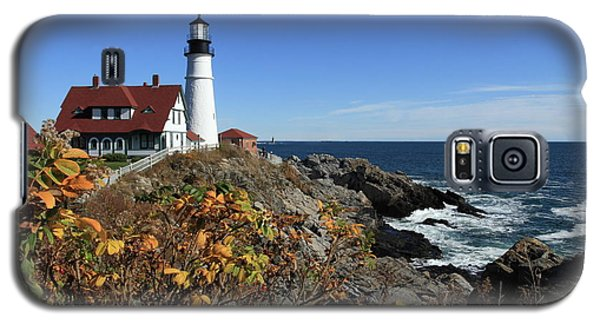 Portland Head Lighthouse In The Fall Galaxy S5 Case by Lou Ford