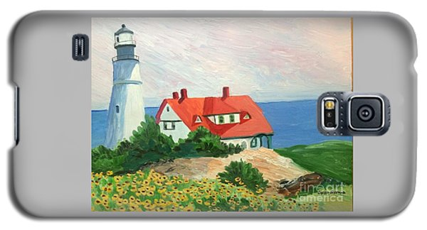 Portland Headlight With Brown Eyed Susans Galaxy S5 Case