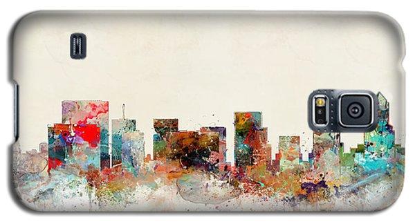 Galaxy S5 Case featuring the painting Portland Oregon City Skyline by Bri B