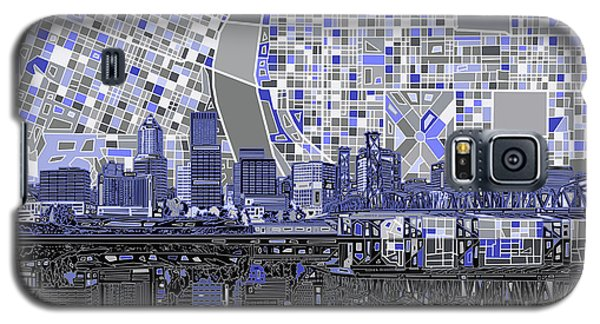 Portland Skyline Abstract Nb Galaxy S5 Case by Bekim Art