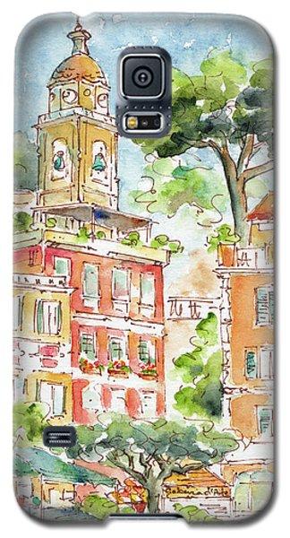 Galaxy S5 Case featuring the painting Portofino Piazetta by Pat Katz
