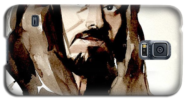 Watercolor Portrait Of A Man With Long Hair Galaxy S5 Case
