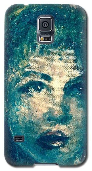 Portrait In Blue Galaxy S5 Case