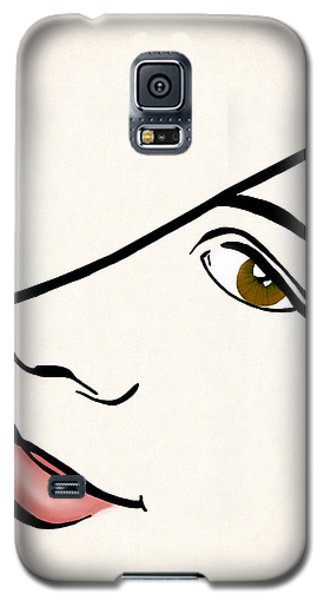 Portrait In Line Galaxy S5 Case by Francesa Miller