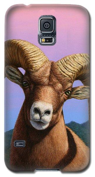 Animals Galaxy S5 Cases - Portrait of a Bighorn Galaxy S5 Case by James W Johnson