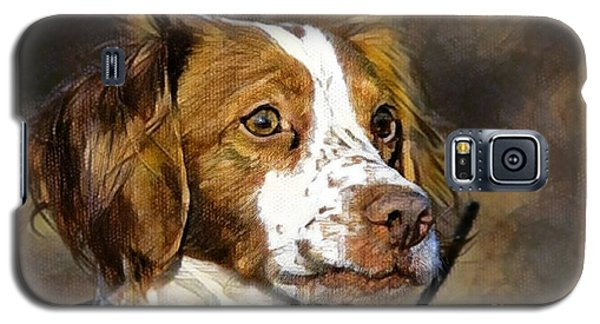Galaxy S5 Case featuring the photograph Portrait Of A Brittany - D009983-a by Daniel Dempster