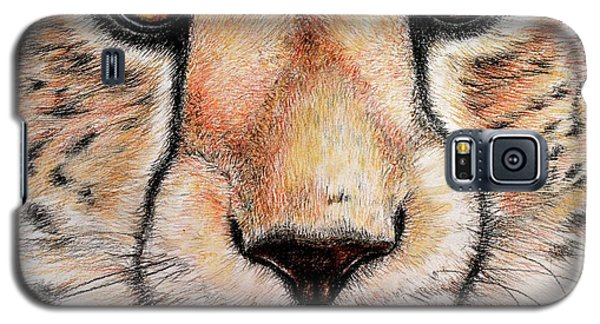 Portrait Of A Cheetah Galaxy S5 Case by Heidi Kriel