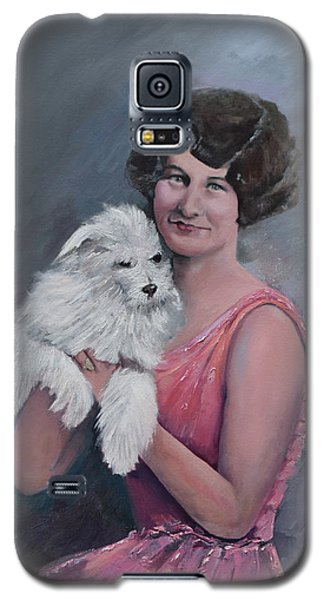 Maggie And Caruso -portrait Of A Flapper Girl Galaxy S5 Case