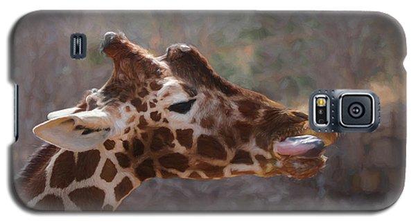 Galaxy S5 Case featuring the digital art Portrait Of A Giraffe by Ernie Echols