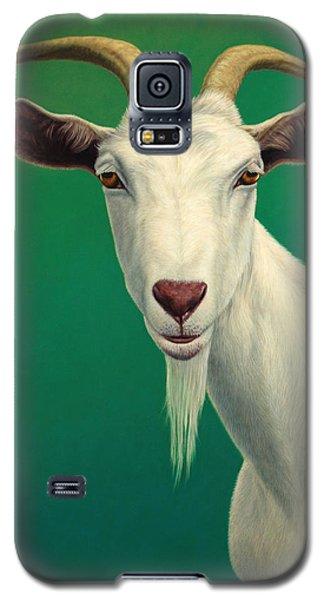 Portrait Of A Goat Galaxy S5 Case by James W Johnson