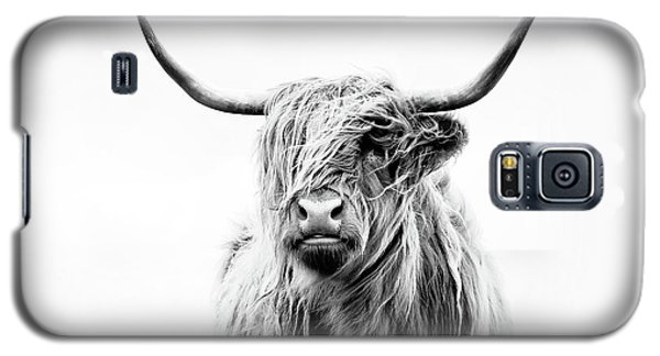 Cow Galaxy S5 Case - Portrait Of A Highland Cow by Dorit Fuhg
