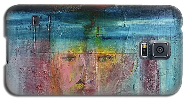 Galaxy S5 Case featuring the painting Portrait Of A Refugee by Kim Nelson