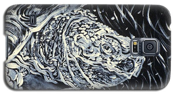 Galaxy S5 Case featuring the painting Portrait Of A Turtle by Fabrizio Cassetta