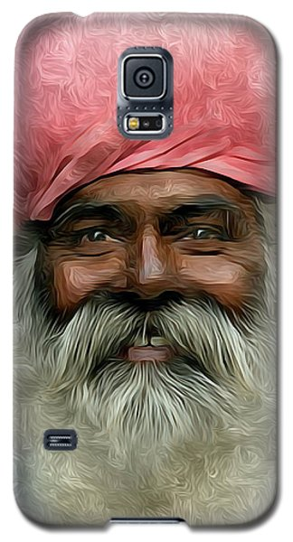 portrait of a villager Metal Print Galaxy S5 Case by S Art