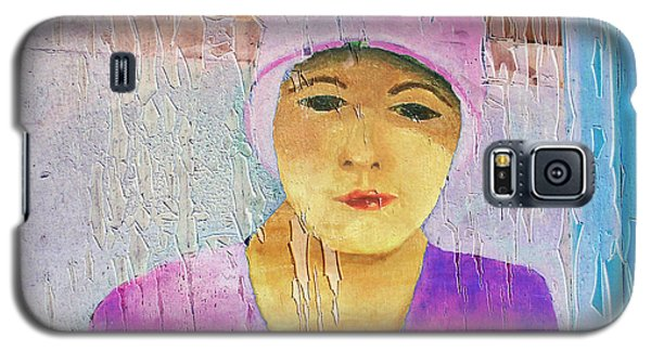 Portrait Of A Woman On A Downtown Wall Galaxy S5 Case by Louis Nugent