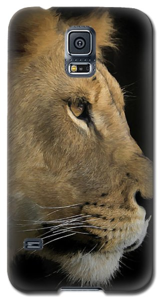 Galaxy S5 Case featuring the digital art Portrait Of A Young Lion by Ernie Echols