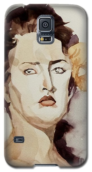 Portrait Of A Young Woman With Flower Galaxy S5 Case