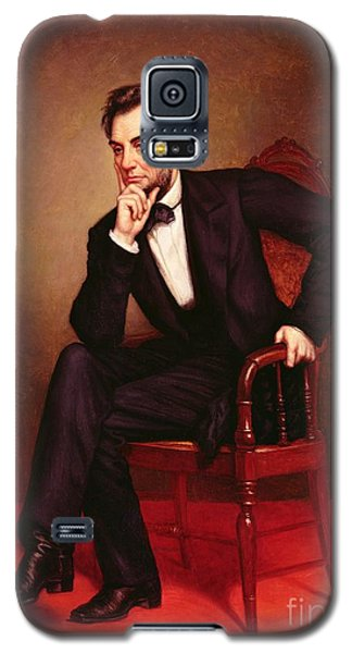 Portrait Of Abraham Lincoln Galaxy S5 Case by George Peter Alexander Healy