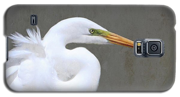 Portrait Of An Egret Signed Galaxy S5 Case