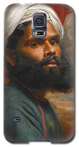 Galaxy S5 Case featuring the painting Portrait Of An Indian Sardar by Edwin Frederick Holt