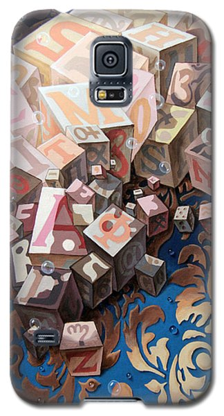 Portrait Of Einstein. Cubes  Galaxy S5 Case