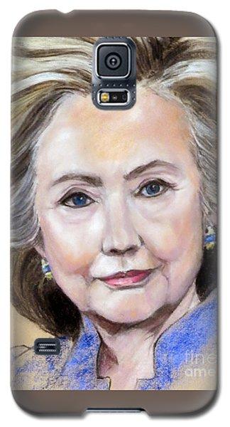 Pastel Portrait Of Hillary Clinton Galaxy S5 Case