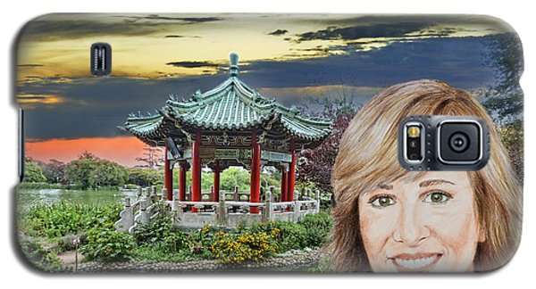 Johnny Carson Galaxy S5 Case - Portrait Of Jamie Colby By The Pagoda In Golden Gate Park by Jim Fitzpatrick