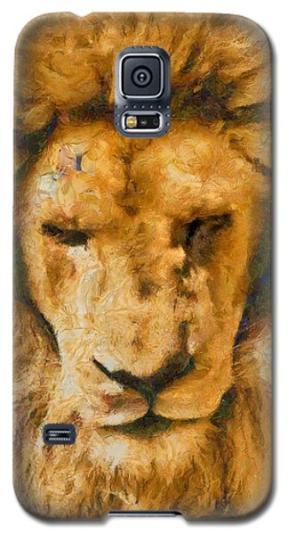 Galaxy S5 Case featuring the photograph Portrait Of Lion by Scott Carruthers