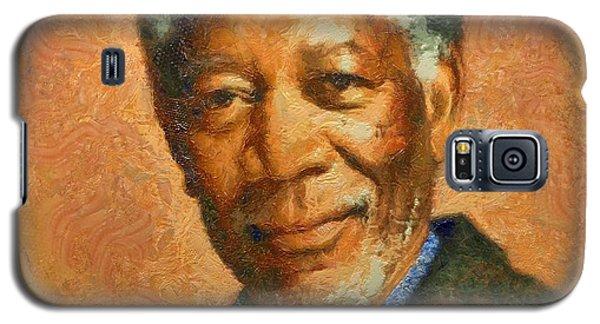 Portrait Of Morgan Freeman Galaxy S5 Case