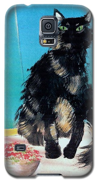 Galaxy S5 Case featuring the painting Portrait Of Muffin by Denise Fulmer