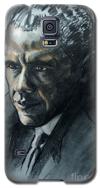 Charcoal Portrait Of President Obama Galaxy S5 Case